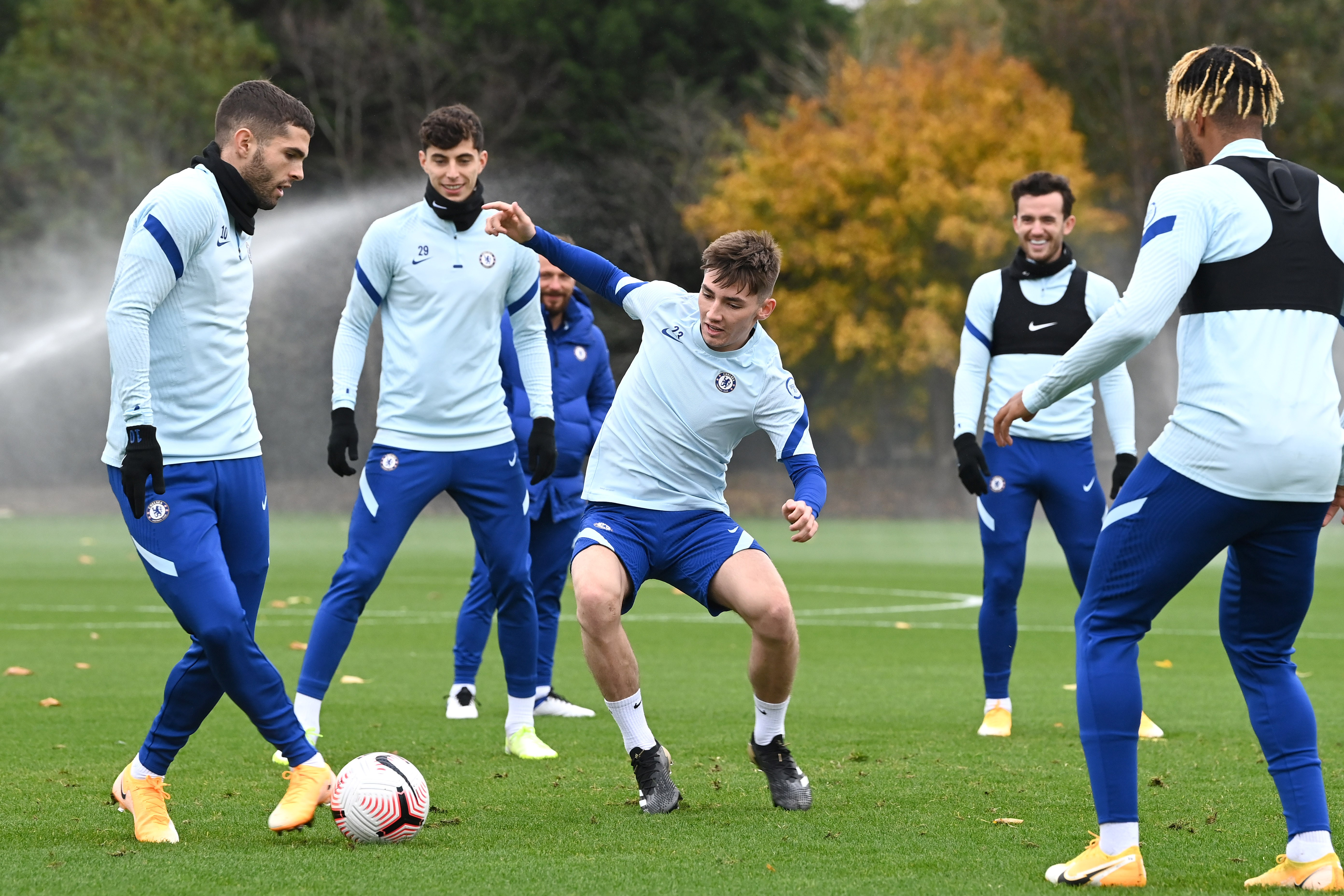Billy Gilmour returns to Chelsea training after knee injury – and immediately trolls Timo Werner
