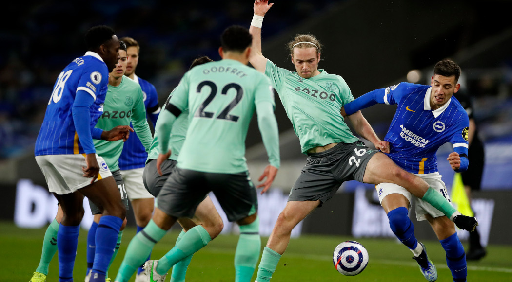 Brighton and Everton battle out a dull draw