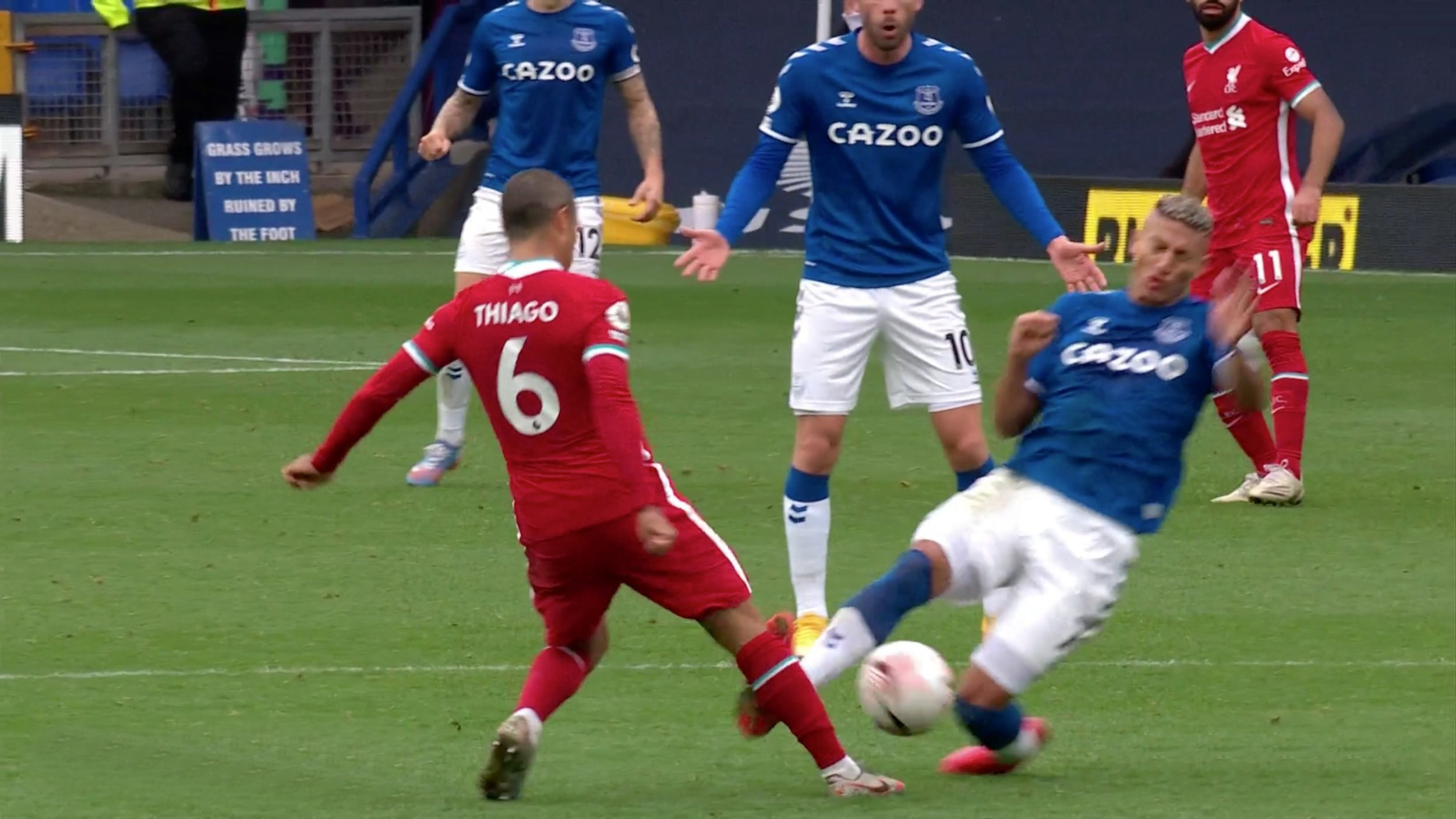 Richarlison deletes tweet about Thiago tackle after Liverpool's draw with Everton